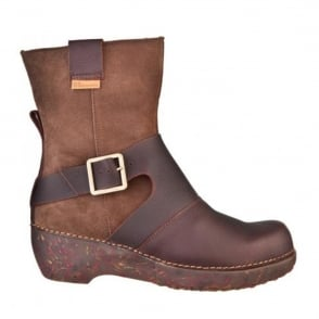 El Naturalista NC77 Boot Tricot Brown, Smart boot with buckle detail