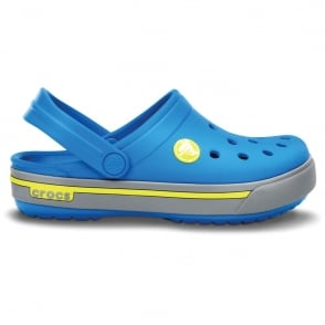 Crocs Kids Crocband II.5 Clog Ocean/Citrus, All the comfort of a Classic but with a Retro look