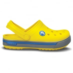 Crocs Kids Crocband II.5 Clog Yellow/Light Grey, All the comfort of a Classic but with a Retro look