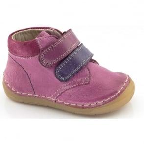 Froddo Minis Velcro Ankle Boot G2130069-9 Fuchsia, leather velcro ankle boot