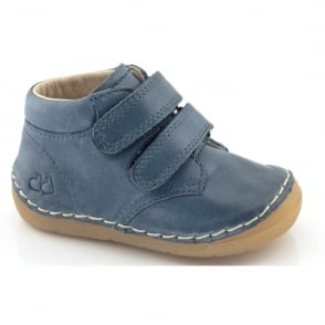 Froddo Minis Velcro Ankle Boot G2130069-5 Blue, leather velcro ankle boot