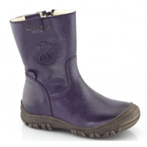 Froddo Youth/Adult Ankle Boot G3160042-3 Purple, waterproof ankle boot