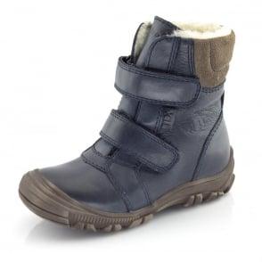 Froddo Junior Ankle Boot G3110057 Navy, waterproof velcro ankle boot
