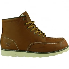Dude Rocca Boot Tan, Leather Lace up boot