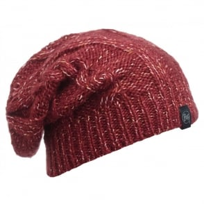 Buff Gymmer Hat Grana, Slouchy fit knitted hat