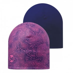 Buff Reversible Microfiber Hat Mimac Magenta/Blue, ideal for outdoor activities or a base layer to protect from the cold