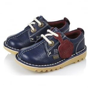 Kickers Kick Reverse Infant Shoe Dark Blue/Dark Red, Ideal for school