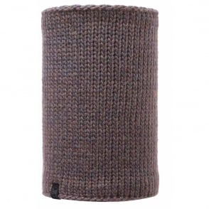 Buff Neckwarmer Polar Reversible Lila Brown/Melange Grey, chunky knitted neckwarmer
