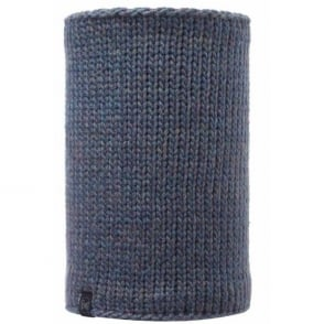 Buff Neckwarmer Polar Reversible Lila Denim/Melange Grey, chunky knitted neckwarmer