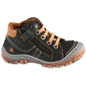 The Art Company A055 Junior Snug Night/Orange, leather ankle boot