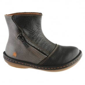 The Art Company A658 Youth/Adult Kio Black/Brunito, leather ankle boot perfect for those colder months!