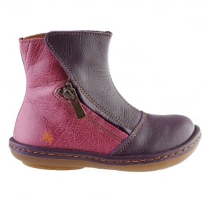The Art Company A658 Infant Kio Cereza/Magenta, leather ankle boot perfect for those colder months!