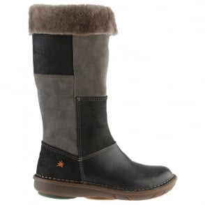 The Art Company A762 Junior Berlin Night, tall zip up boot with fur lining