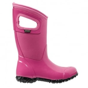 Bogs 71844 North Hampton Bubblegum, 100% waterproof wellington keeping you dry with every stomp!