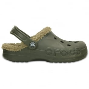 Crocs Baya Lined Dusty Olive/Khaki, Fully molded Croslite shoe with fixed fuzzy liner