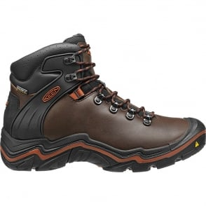 KEEN Mens Liberty Ridge Bison/Gingerbread, waterproof leather hiking boot