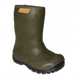 Move Thermo Boots Olive, Warm lined lightweight kids boot