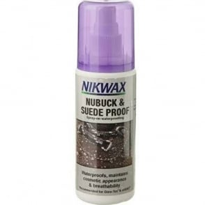 Nikwax Nubuck & Suede Proof Spray 125ml, Spray on waterproofing to help maintian breathability and texture