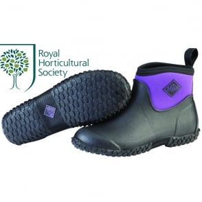 The Muck Boot Company Womens Muckster II Ankle Black/Purple, new sole for even better contact with wet surfaces!