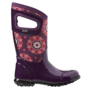 Bogs 71842 North Hampton Kaleidoscope Purple , 100% waterproof wellington keeping you dry with every stomp!
