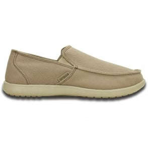 Crocs Santa Cruz Clean Cut Loafer Khaki/Cobblestone,