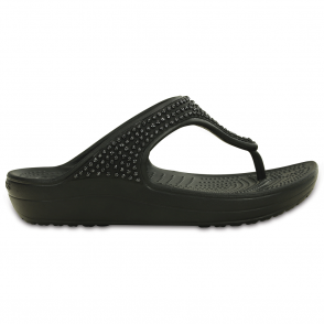 Crocs Sloane Diamante Flip Black, a pretty and feminine everyday platform flip flop
