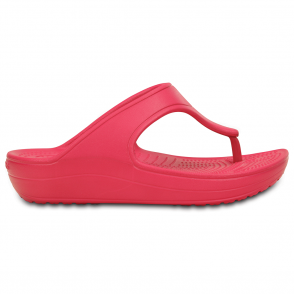Crocs Sloane Platform Flip Raspberry, a pretty and feminine everyday platform flip flop