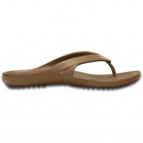Crocs Kadee Flip II Bronze, a lighter and prettier flip for the ladies!