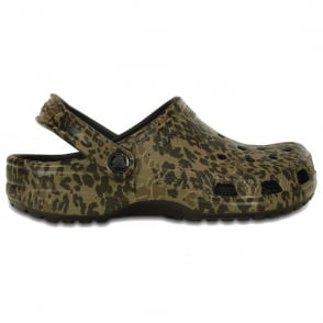 Crocs Classic Leopard II Clog, Original slip on shoe with a Leopard print twist
