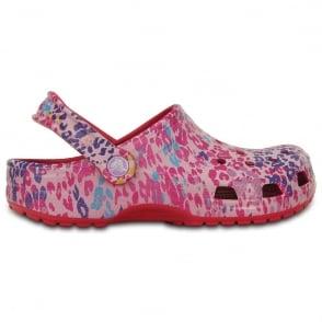 Crocs Classic Floral Clog Raspberry, Original slip in shoe