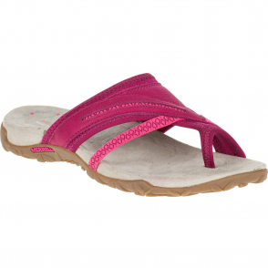 Merrell Terran Post II Fuchsia, breathable mesh & leather sandal