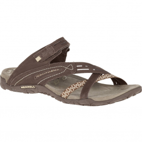 Merrell Terran Weave II Dark Earth, breathable mesh & leather sandal