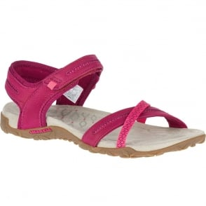 Merrell Terran Cross II Fuchsia, breathable mesh & leather sandal