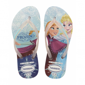 Havaianas Kids Slim Princess Frozen White, made for Princesses