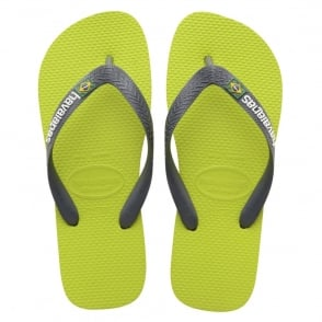 Havaianas Brasil Logo Lime/Green/Grey, the original flip flop