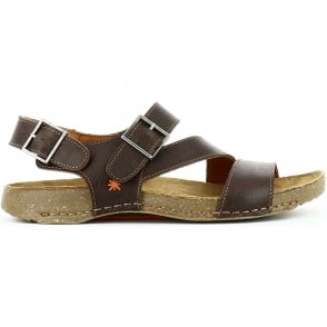 The Art Company 0999 I Breathe Sandal Moka, leather sandal with adjustable straps