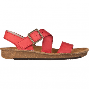 El Naturalista ND30 Contradiction Sandal Grosella, chunky leather sandal