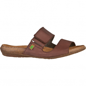 El Naturalista ND75 Wakataua Slide Brown, leather slip on sandal