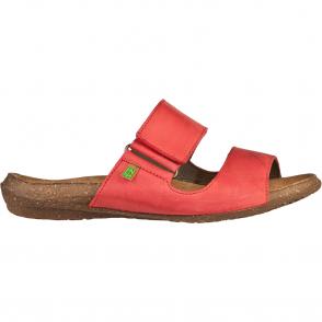 El Naturalista ND75 Wakataua Slide Grosella, leather slip on sandal