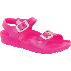 Birkenstock Kids EVA Rio Neon Pink 126163, the classic kids Rio sandal but with a EVA twist