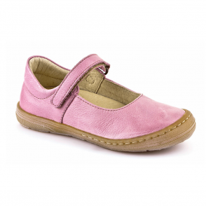 Froddo Ballerina Shoe Youth/Adult Pink G3140042-1, soft leather girls flat shoe