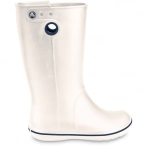 Crocs Jaunt Boot Oyster, Fully molded Croslite light weight wellington boot
