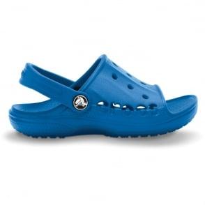 Crocs Kids Baya Slide Sea Blue, the perfect croslite slip on sandal
