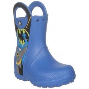 Crocs Kids Handle it Rain Boot Batman Sea Blue, Easy on wellington
