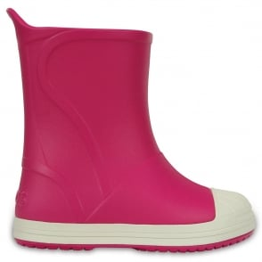 Crocs Kids Bump It Rain Boot Candy Pink/Oyster, sneaker inspired waterproof rain boot