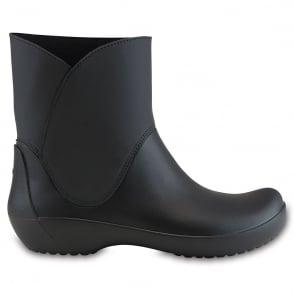 Crocs Rainfloe Bootie Black, waterproof ankle wellie boot
