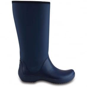 Crocs Rainfloe Tall Boot Navy, womens waterproof tall wellie