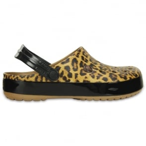 Crocs Crocband Leopard II Clog Camel, the classic Crocband but with a leopard print twist!