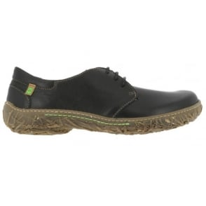 El Naturalista N797 Nido Shoe Black, womens lace up flat