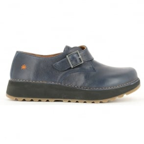 The Art Company 1021 Heathrow Blue, Slight wedge look buckle up shoe
